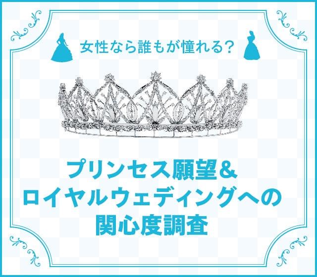女性なら誰もが憧れる?プリンセス願望&ロイヤルウェディングへの関心度調査